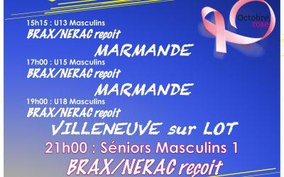 Samedi 16 octobre – Brax/Nérac VS AGEN